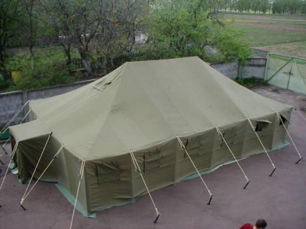 Большие армейские палатки из брезента | каркасные